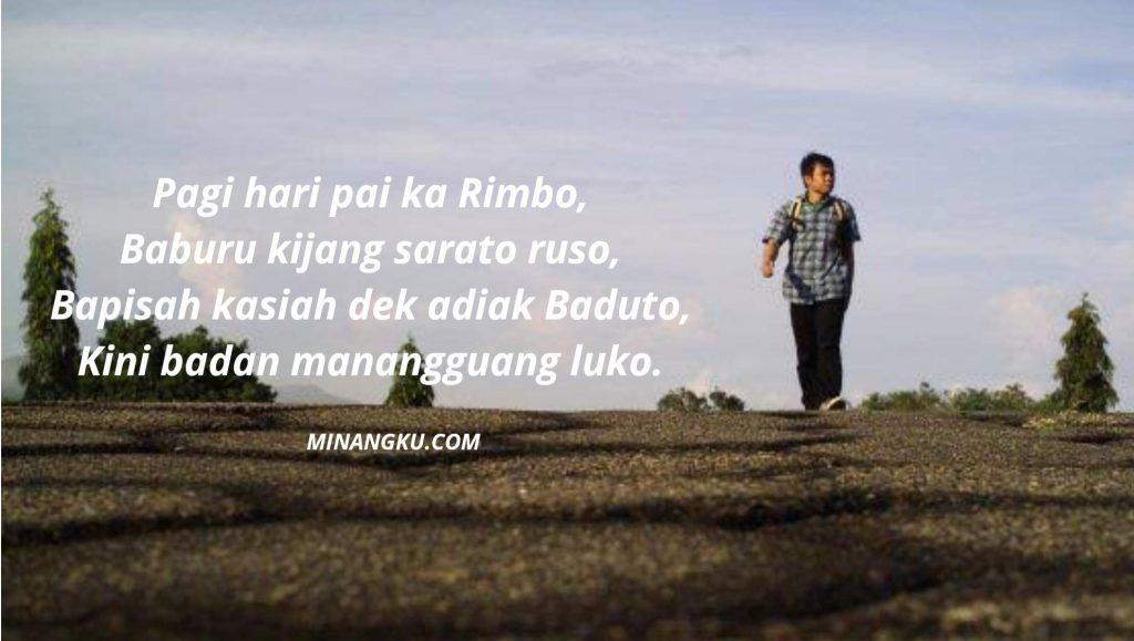 Pantun perpisahan bahasa Minang