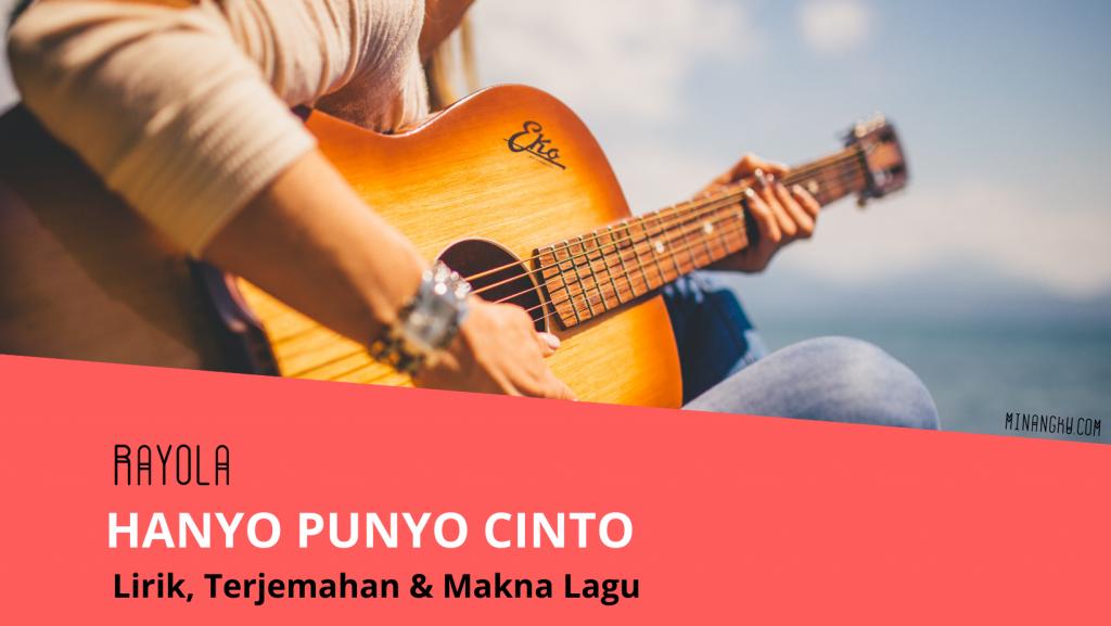 Lirik lagu hanyo punyo cinto