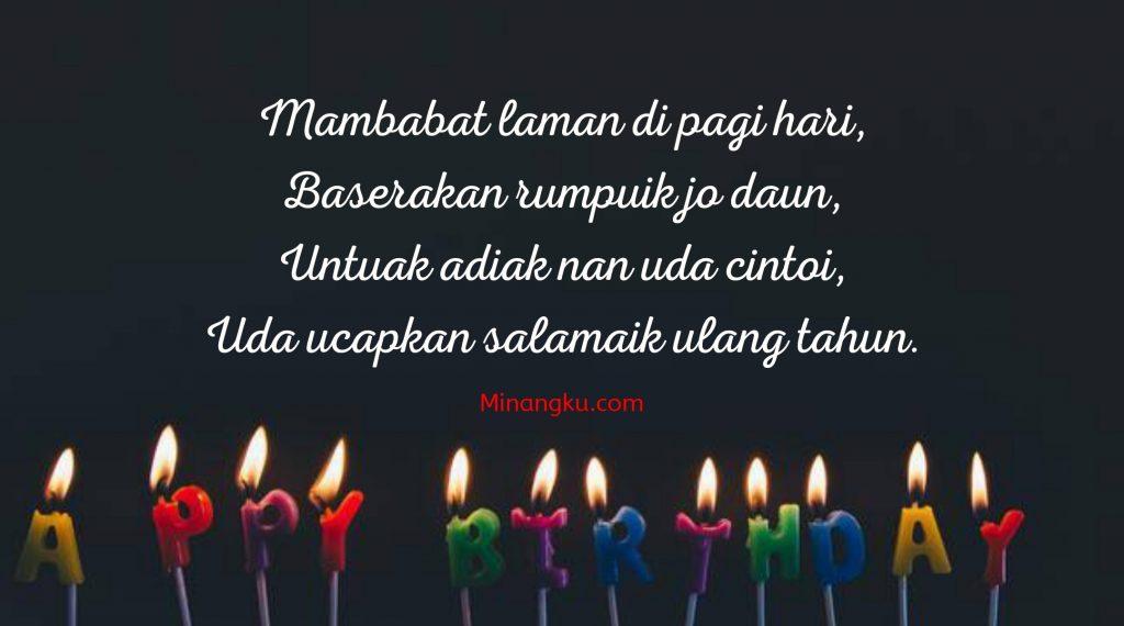 Ucapan ulang tahun Minang dan artinya